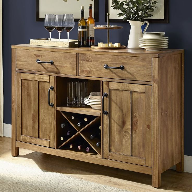 """Avenal 52"""" Wide 2 Drawer Sideboard (with Images Intended For Slattery 52"""" Wide 2 Drawer Buffet Tables (View 7 of 15)"""