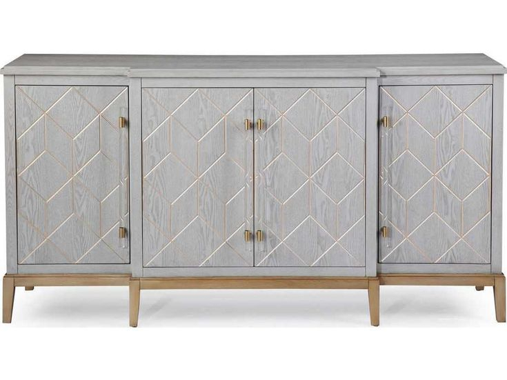 """Bassett Mirror Thoroughly Modern Perrine 68'' X 19 Throughout Kidham 68"""" Wide Sideboards (View 3 of 15)"""