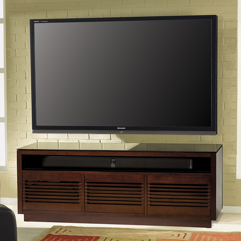 """Bello Wmfc602 Wood Tv Stand In Chocolate Finish Up To 70"""" Tvs (View 8 of 15)"""