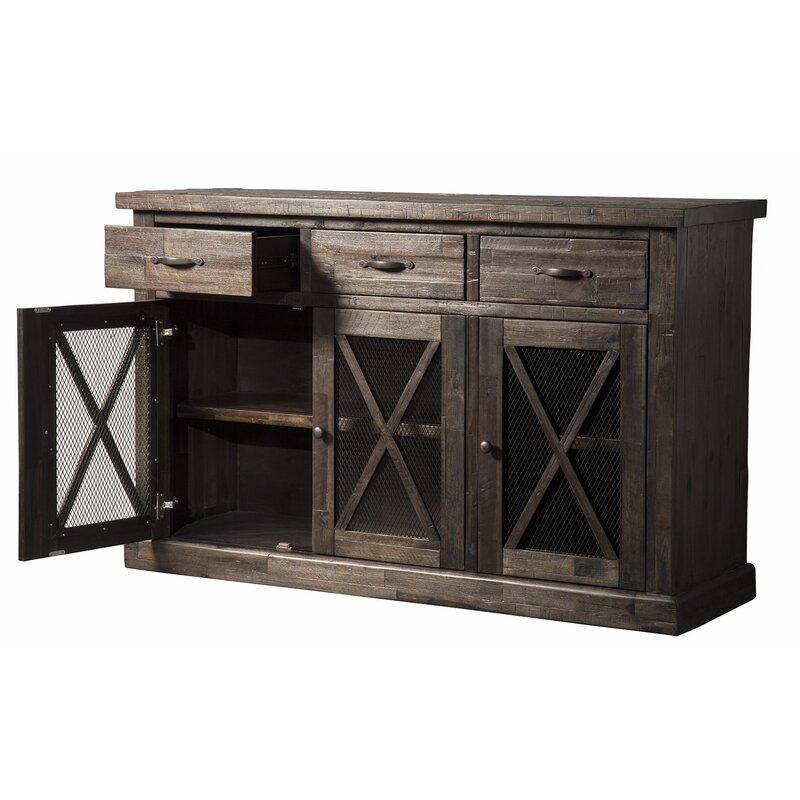 """Best Buffets Sideboards Servers And Hutches 2020 • Top9home Intended For Albright 58"""" Wide 3 Drawer Sideboards (View 1 of 15)"""