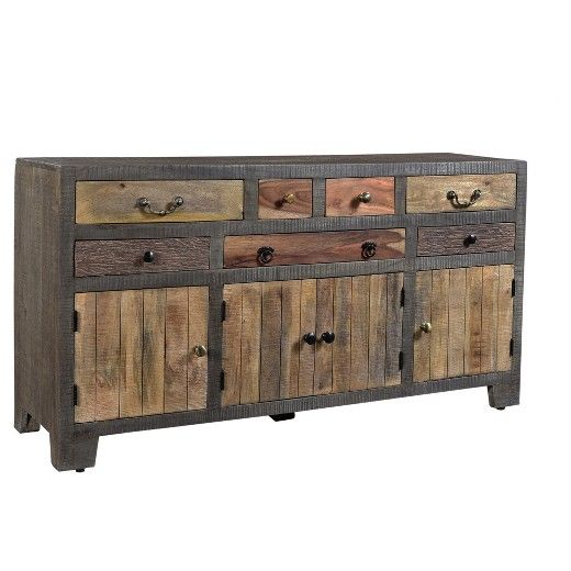 """Bring The Beauty Of Nature Directly Into Your Home With For Hargrove 72"""" Wide 3 Drawer Mango Wood Sideboards (View 4 of 15)"""