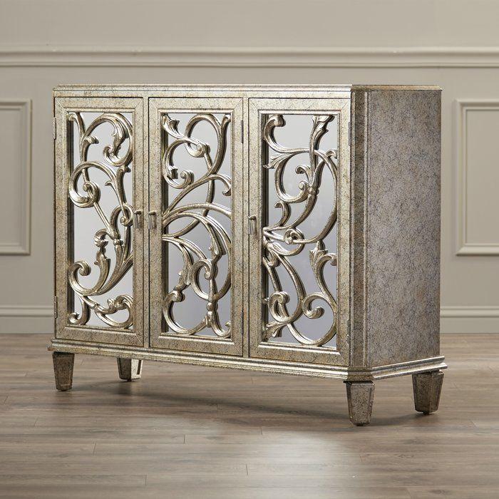 Cecelia Server In 2020   Mirrored Furniture, Antique In Cecelia  (View 3 of 3)