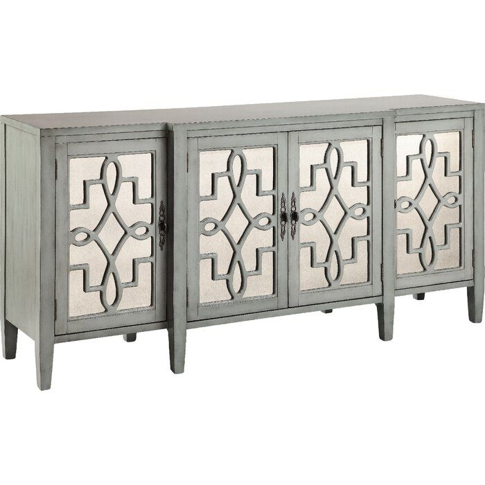 """Chantel 72"""" Wide Sideboard   Mirrored Sideboard, Mirrored Throughout Coles 72 Wide Sideboards (View 15 of 15)"""