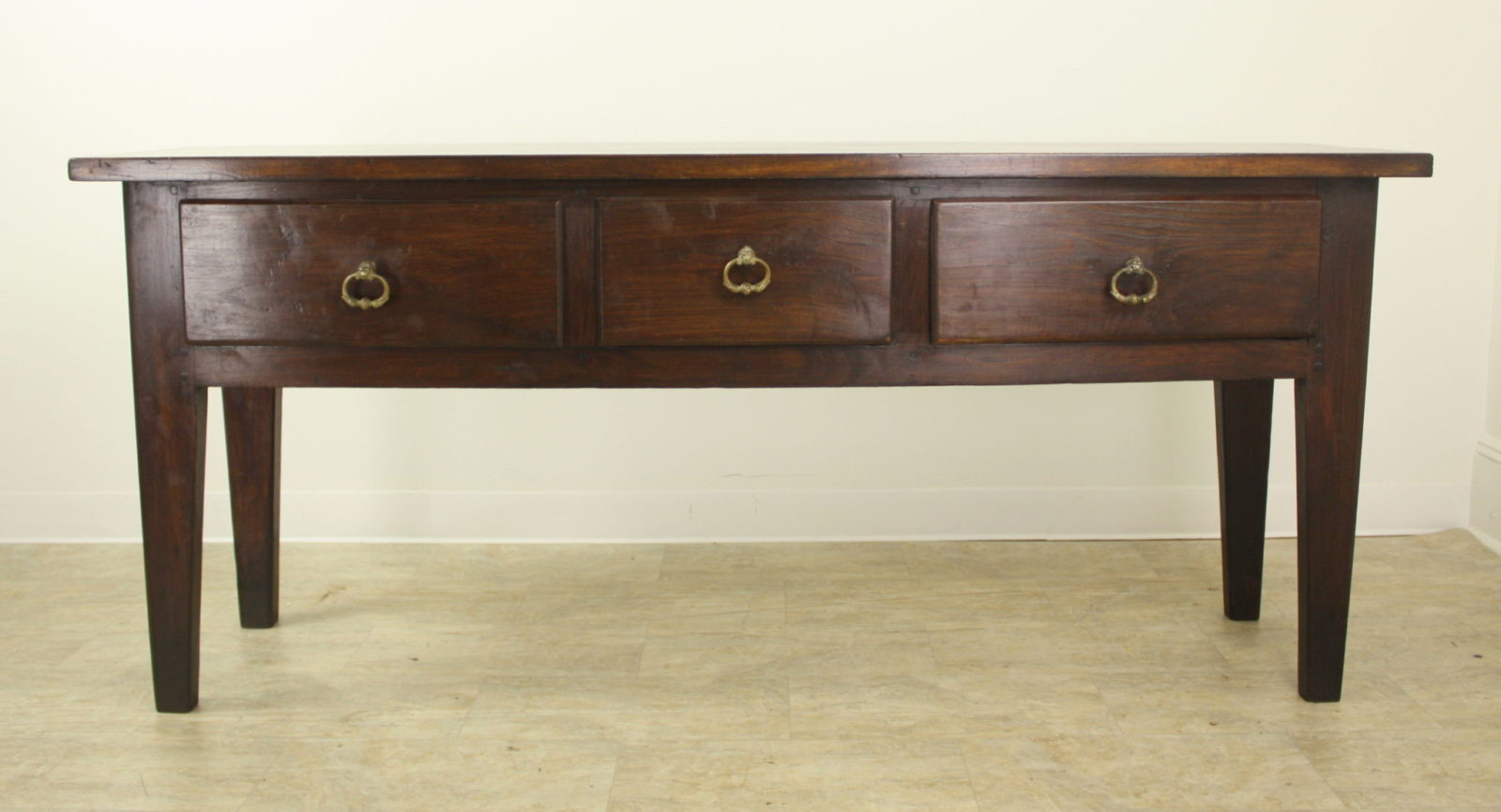 Chunky Chestnut Server With Brass Lion's Head Drawer Pulls Pertaining To Kaysville  (View 4 of 15)