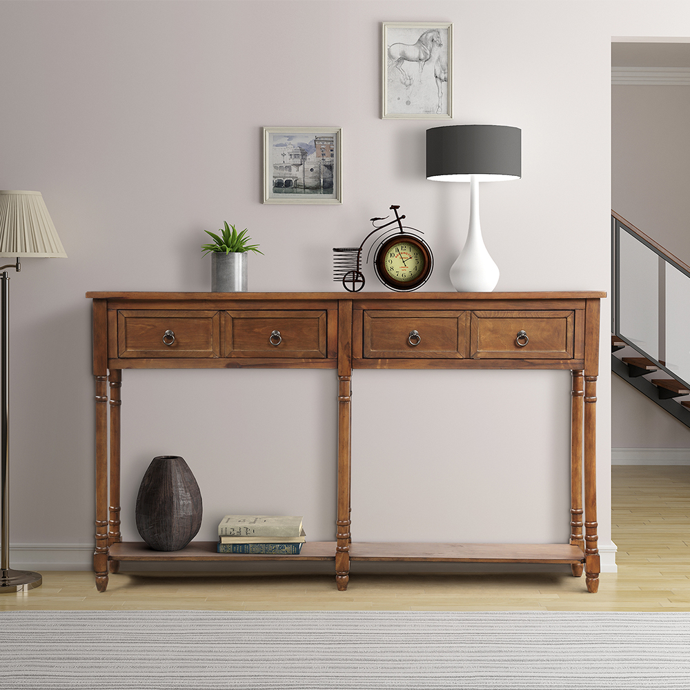 """Clearance! 58"""" Upgrade Console Table Buffet Cabinet Regarding Albright 58"""" Wide 3 Drawer Sideboards (View 3 of 15)"""