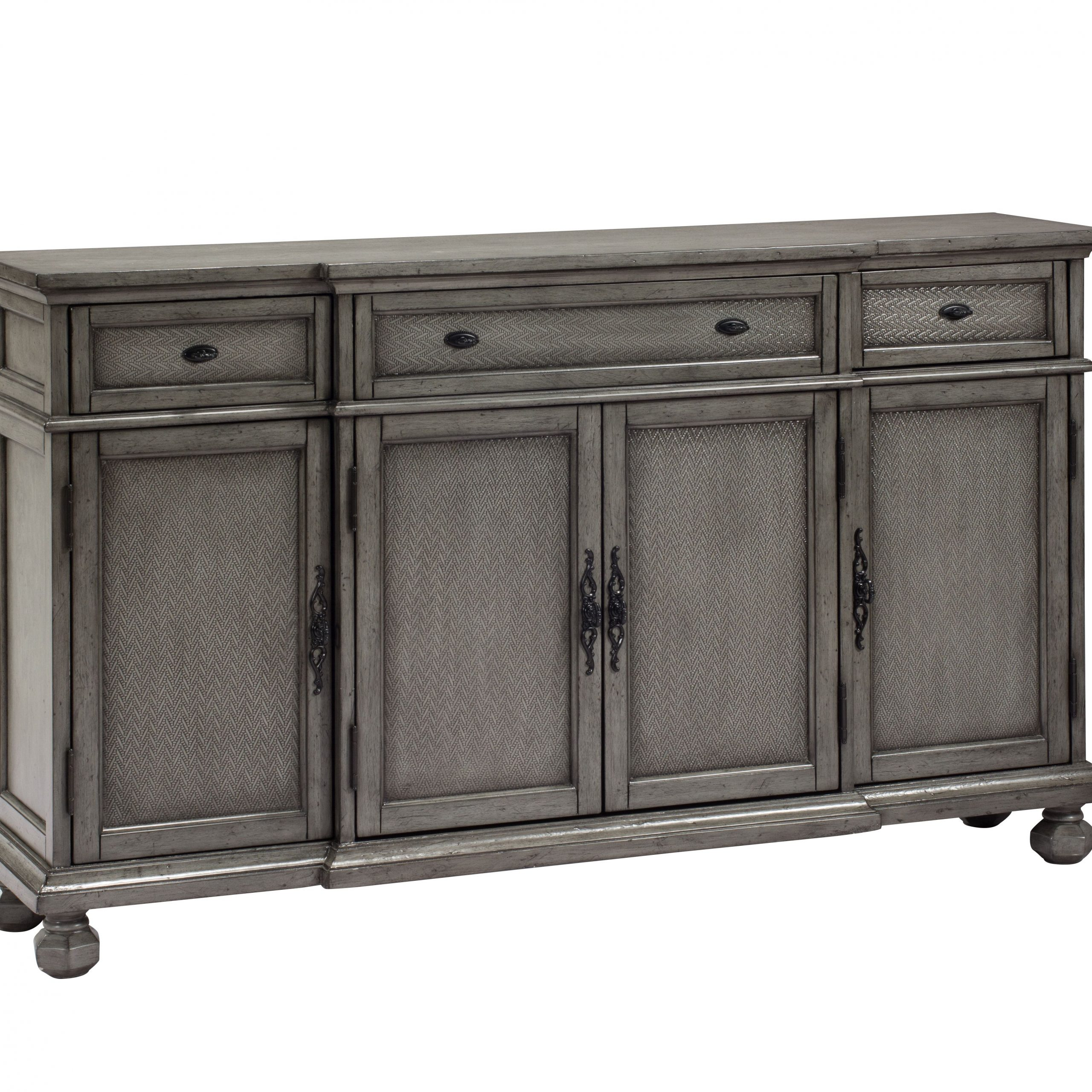 """Coast To Coast – 3 Drw 4 Dr Credenza   Stylish Sideboards In Albright 58"""" Wide 3 Drawer Sideboards (View 6 of 15)"""