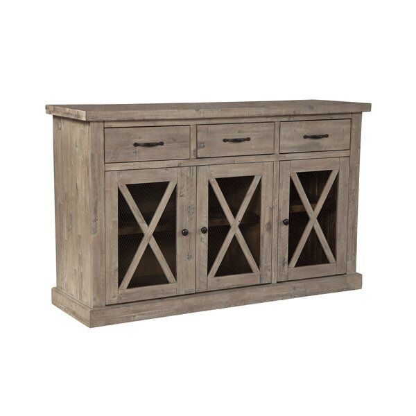 """Colborne 58"""" Wide 3 Drawer Acacia Wood Sideboard   Acacia In Albright 58"""" Wide 3 Drawer Sideboards (View 5 of 15)"""