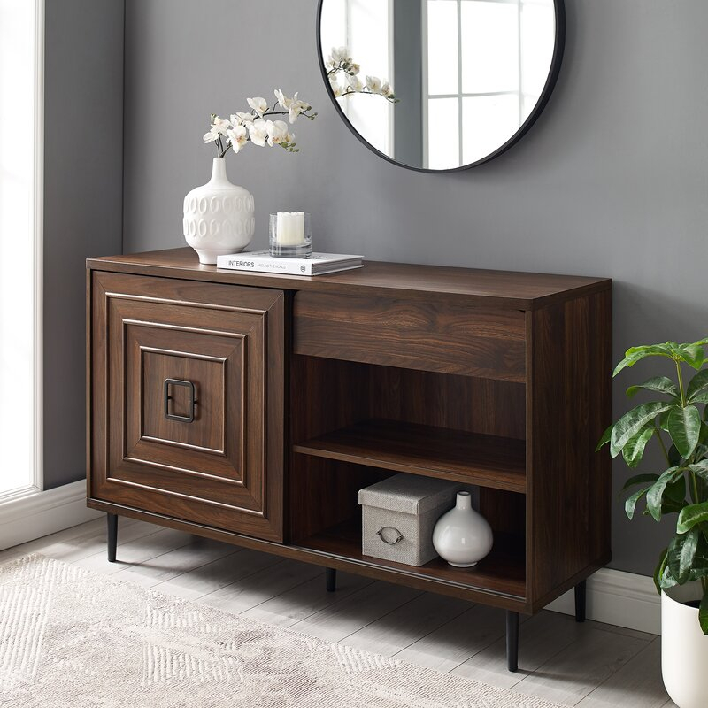 """Corrigan Studio® Bristow 52"""" Wide 2 Drawer Credenza For Slattery 52"""" Wide 2 Drawer Buffet Tables (View 14 of 15)"""