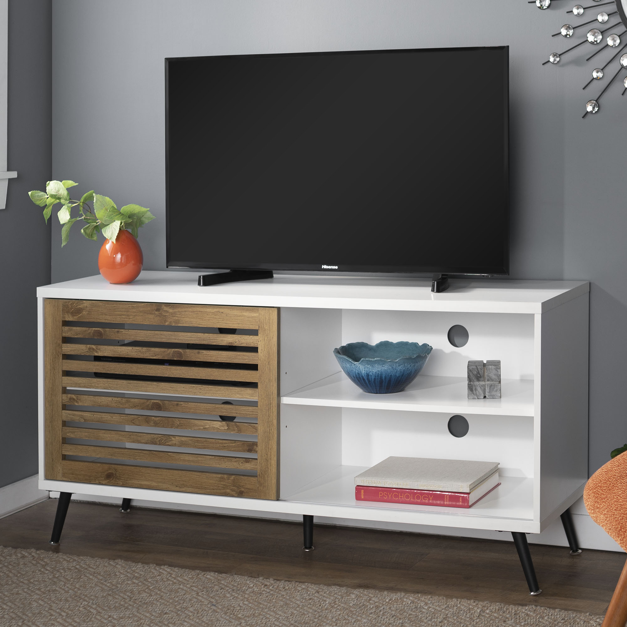 """Desert Fields Mid Century Modern Tv Stand For Tvs Up To 58 Intended For Jace Tv Stands For Tvs Up To 58"""" (View 6 of 15)"""