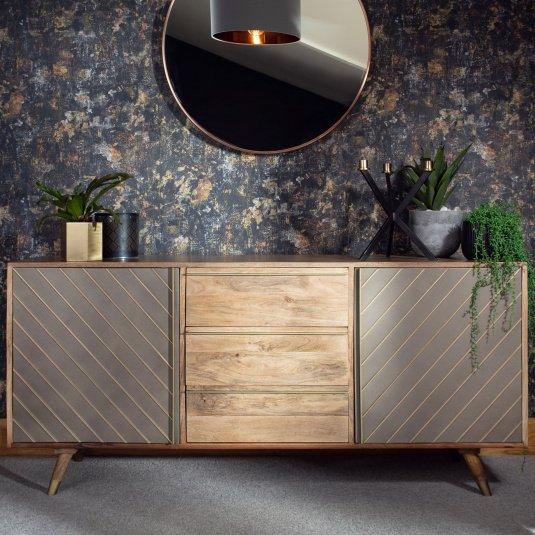 "Drift Wide Mango Wood Sideboard With Regard To Beckenham 73"" Wide Mango Wood Buffet Tables (View 12 of 15)"