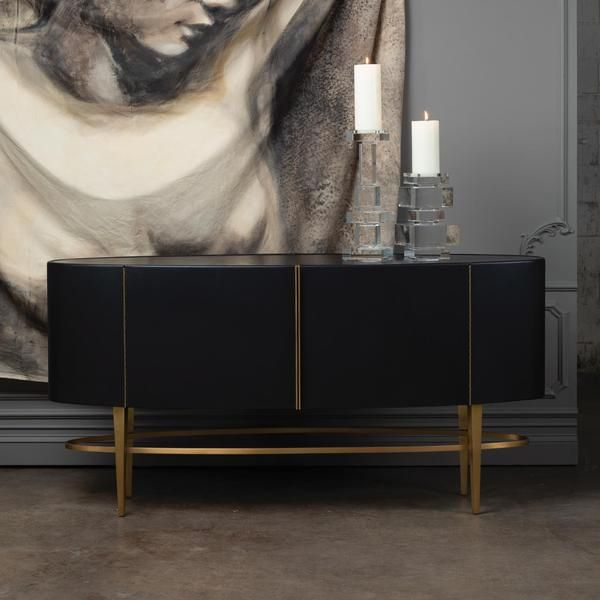 """Ellipse Sideboard – Ebony In 2020   Adjustable Shelving Throughout Beckenham 73"""" Wide Mango Wood Buffet Tables (View 14 of 15)"""