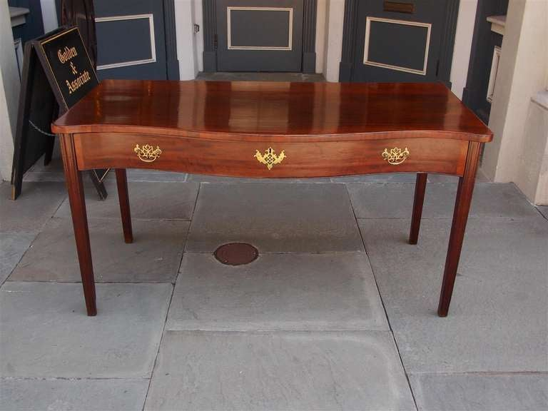 English Mahogany Serpentine Server For Sale At 1stdibs Inside Kaysville  (View 12 of 15)