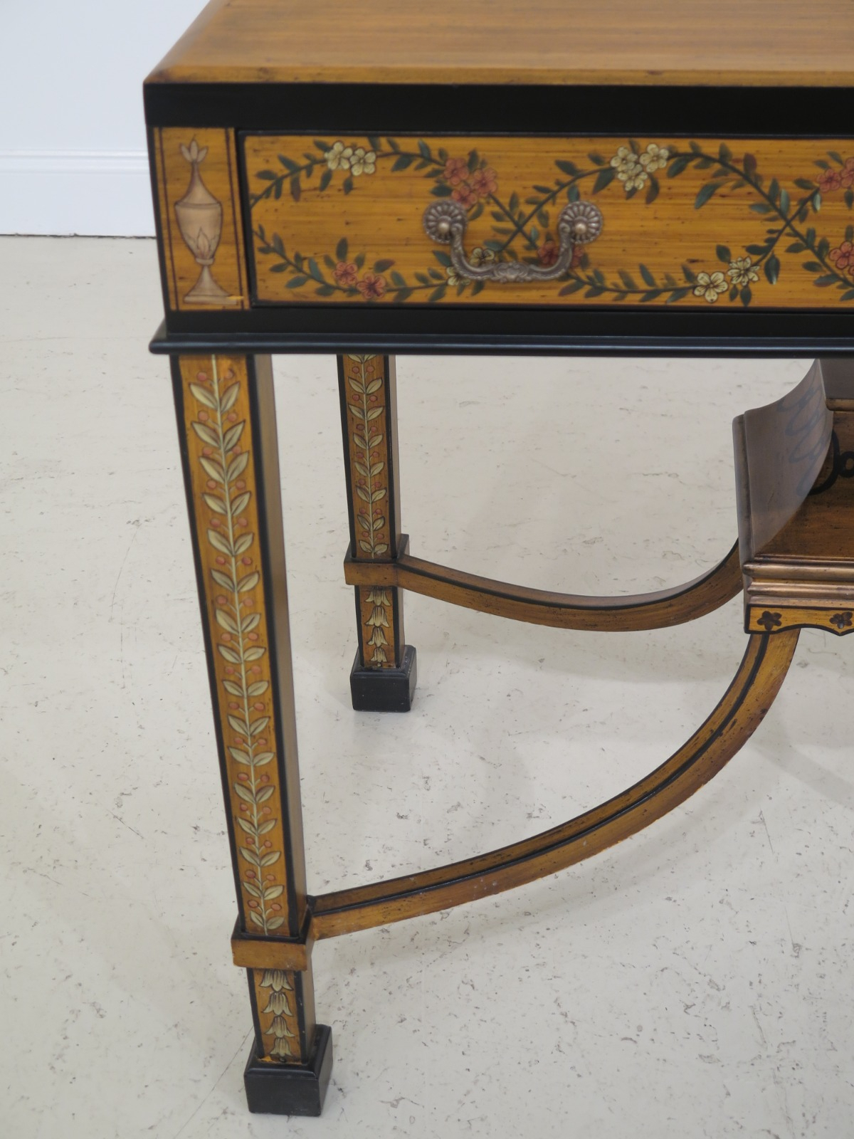 F31555ec: Chelsea House Paint Decorated 1 Drawer Console Regarding Kaysville  (View 8 of 15)