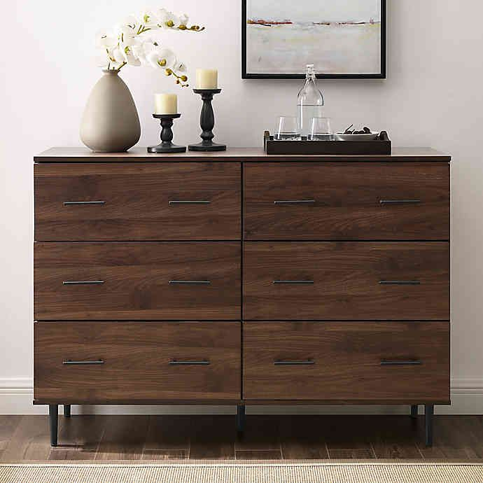 """Forest Gate™ 6 Drawer Farmhouse Wood Storage Cabinet 