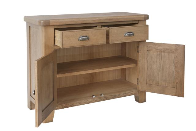 """Harrogate Oak – 2 Drawer 2 Door Sideboard Inside Searsport 48"""" Wide 4 Drawer Buffet Tables (View 5 of 15)"""
