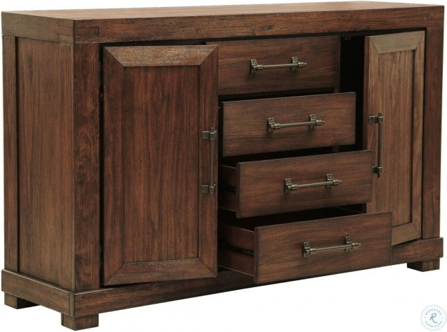 """Henna Brown Server From Samuel Lawrence   Coleman Furniture For Barkell 42"""" Wide 2 Drawer Acacia Wood Drawer Servers (View 15 of 15)"""