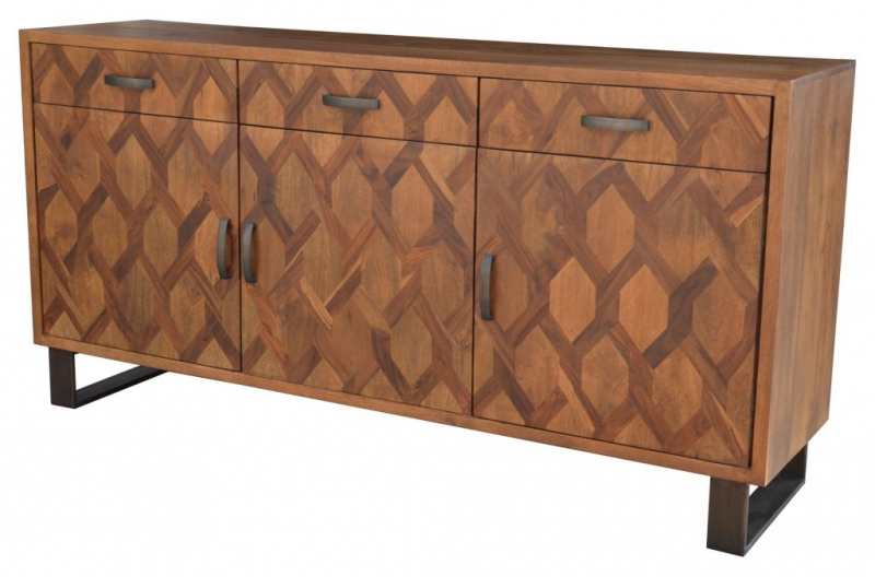 """Indian Furniture Place Buffet 01 For Hargrove 72"""" Wide 3 Drawer Mango Wood Sideboards (View 9 of 15)"""