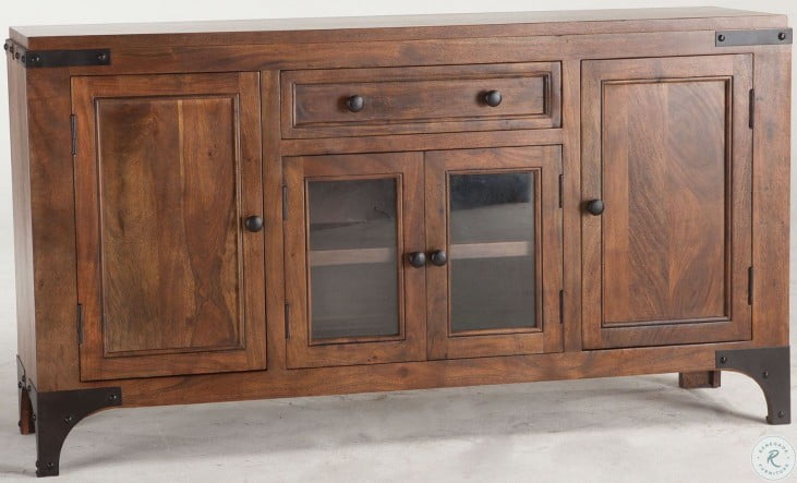"""Irondale Walnut Sideboard From Home Trends   Coleman Furniture For Barkell 42"""" Wide 2 Drawer Acacia Wood Drawer Servers (View 9 of 15)"""
