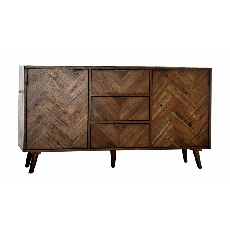 "Jettie 60"" Wide 3 Drawer Sideboard | Allmodern Throughout Myndi 60"" Wide Sideboards (View 15 of 15)"