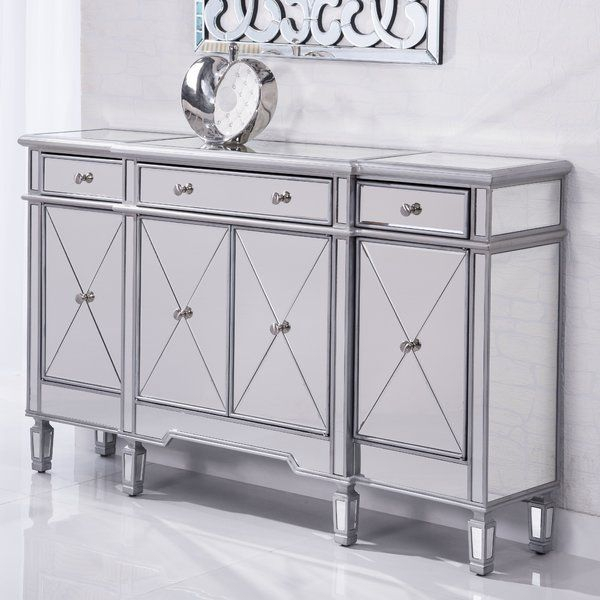 Lockheart 3 Drawer 4 Door Cabinet | Accent Cabinet With Keeney Sideboards (View 4 of 15)