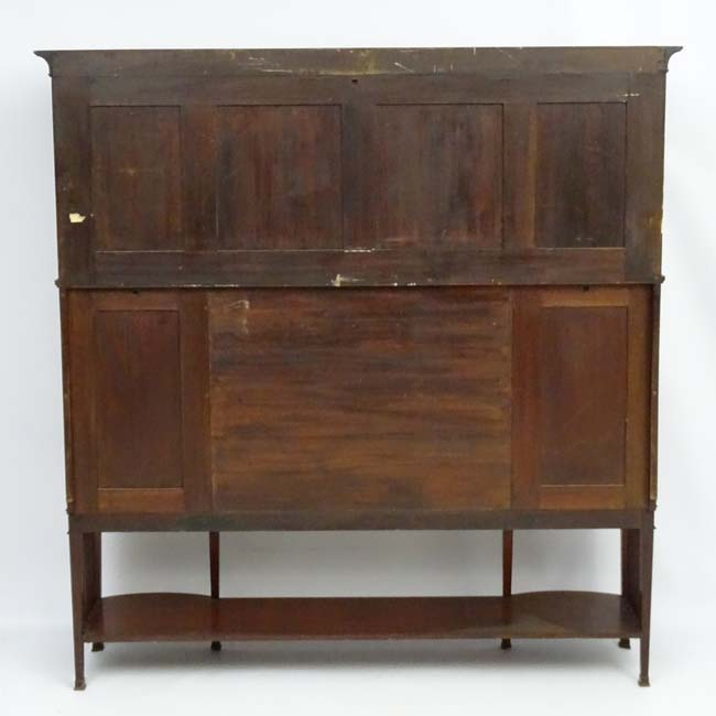 """Maple & Co – Probably For Liberty & Co : A Mahogany Glazed For Findley 66"""" Wide Sideboards (View 15 of 15)"""