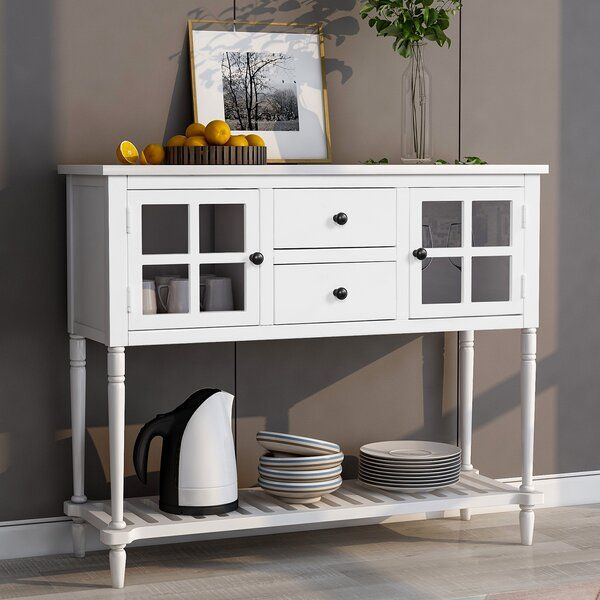 """Marple 42"""" Wide 2 Drawer Server In 2020   Dining Room Intended For Barkell 42"""" Wide 2 Drawer Acacia Wood Drawer Servers (View 2 of 15)"""