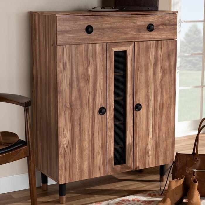 Millwood Pines Modern And Contemporary 2 Door Wood Regarding Millwood Pines Floor Storage Cabinet With 2 Doors And 2 Open Shelves (View 4 of 15)