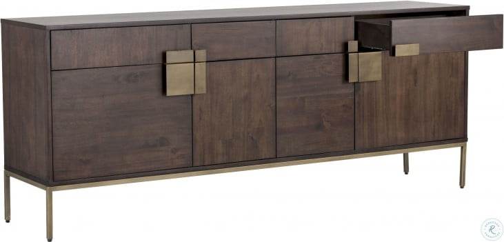 """Mixt Jade Antique Brass Sideboard From Sunpan   Coleman Within Barkell 42"""" Wide 2 Drawer Acacia Wood Drawer Servers (View 13 of 15)"""