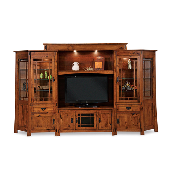 """Modesto 6pc Wall Unit W/ Angled Sides 