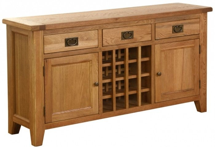 """New Hampshire Oak Sideboard With Wine Rack 