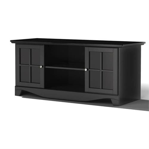Nexera Pinnacle Tv Stand (56 Inch, Black) 101206 Pertaining To Kemble Tv Stands For Tvs Up To (View 11 of 15)