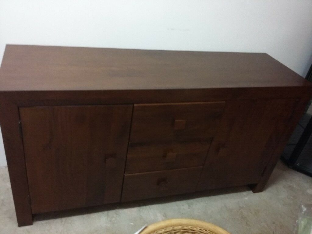 Next Solid Chunky Mango Wood Sideboard (View 4 of 15)