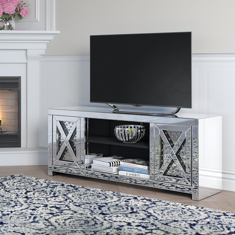 """Rosdorf Park Aaru Tv Stand For Tvs Up To 65"""" & Reviews Regarding Adalberto Tv Stands For Tvs Up To 65"""" (View 12 of 15)"""