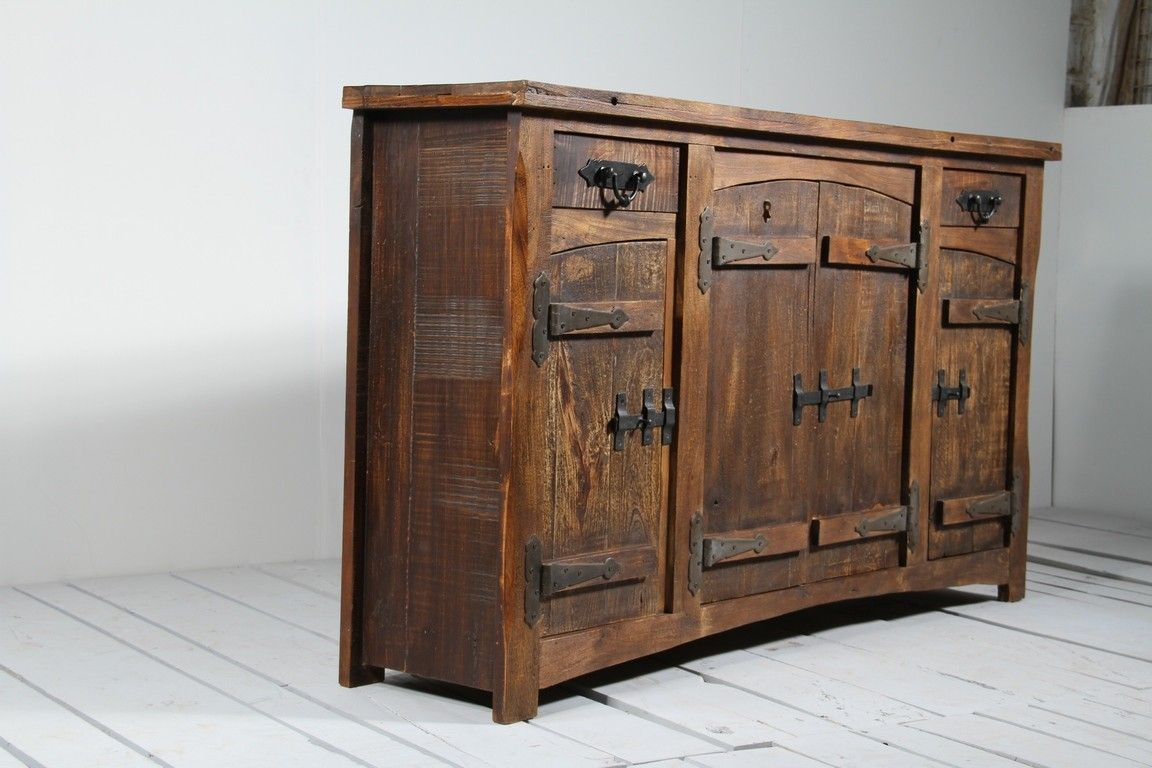 """Rustica Upcycled 2 Drawer 4 Door Sideboard 
