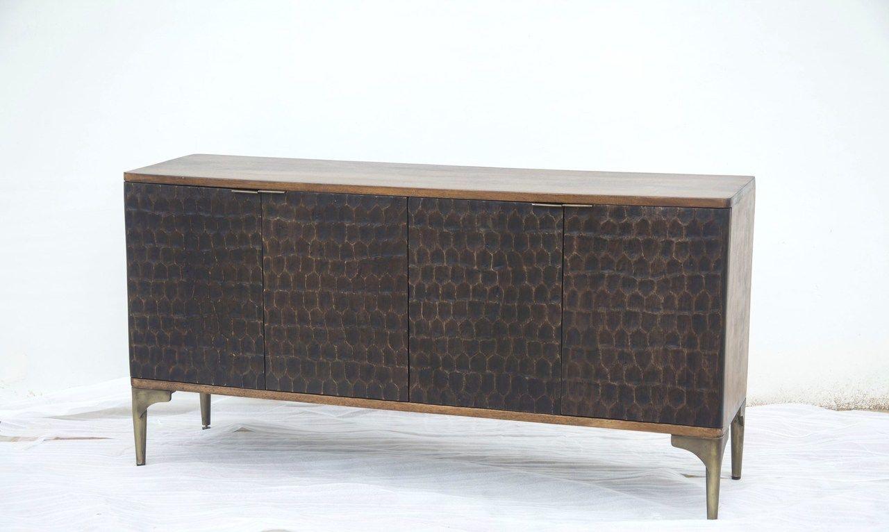 "Santa Cruz Sideboard   Solid Wood Furniture, Wholesale With Regard To Beckenham 73"" Wide Mango Wood Buffet Tables (View 3 of 15)"