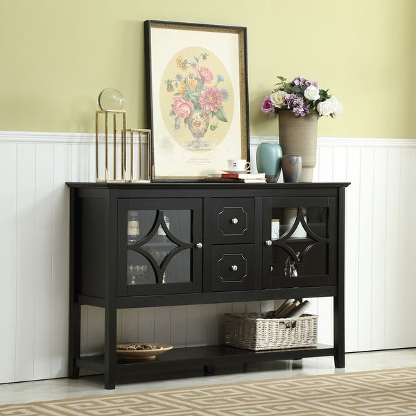 """Shop 50'' Wide 2 Drawer Buffet Table – Overstock – 31725274 Within Slattery 52"""" Wide 2 Drawer Buffet Tables (View 5 of 15)"""