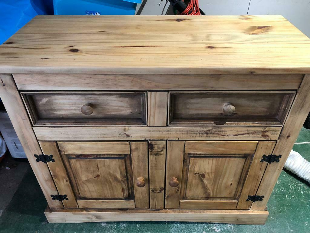 """Solid Pine Cabinet Drawers Unit 