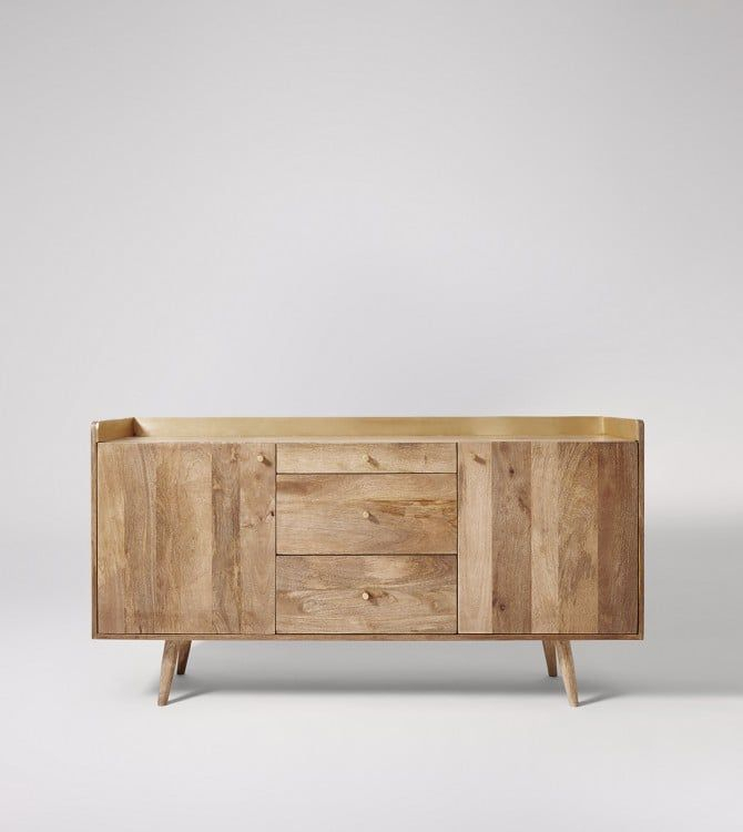 """Storage Furniture & Contemporary Storage Units   Swoon For Beckenham 73"""" Wide Mango Wood Buffet Tables (View 2 of 15)"""