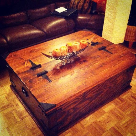 Storage Trunk Coffee Table.rustikink On Etsy, $ (View 10 of 15)