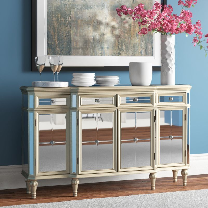 """The Best Mirrored Buffets And Sideboards On Pinterest For Myndi 60"""" Wide Sideboards (View 11 of 15)"""