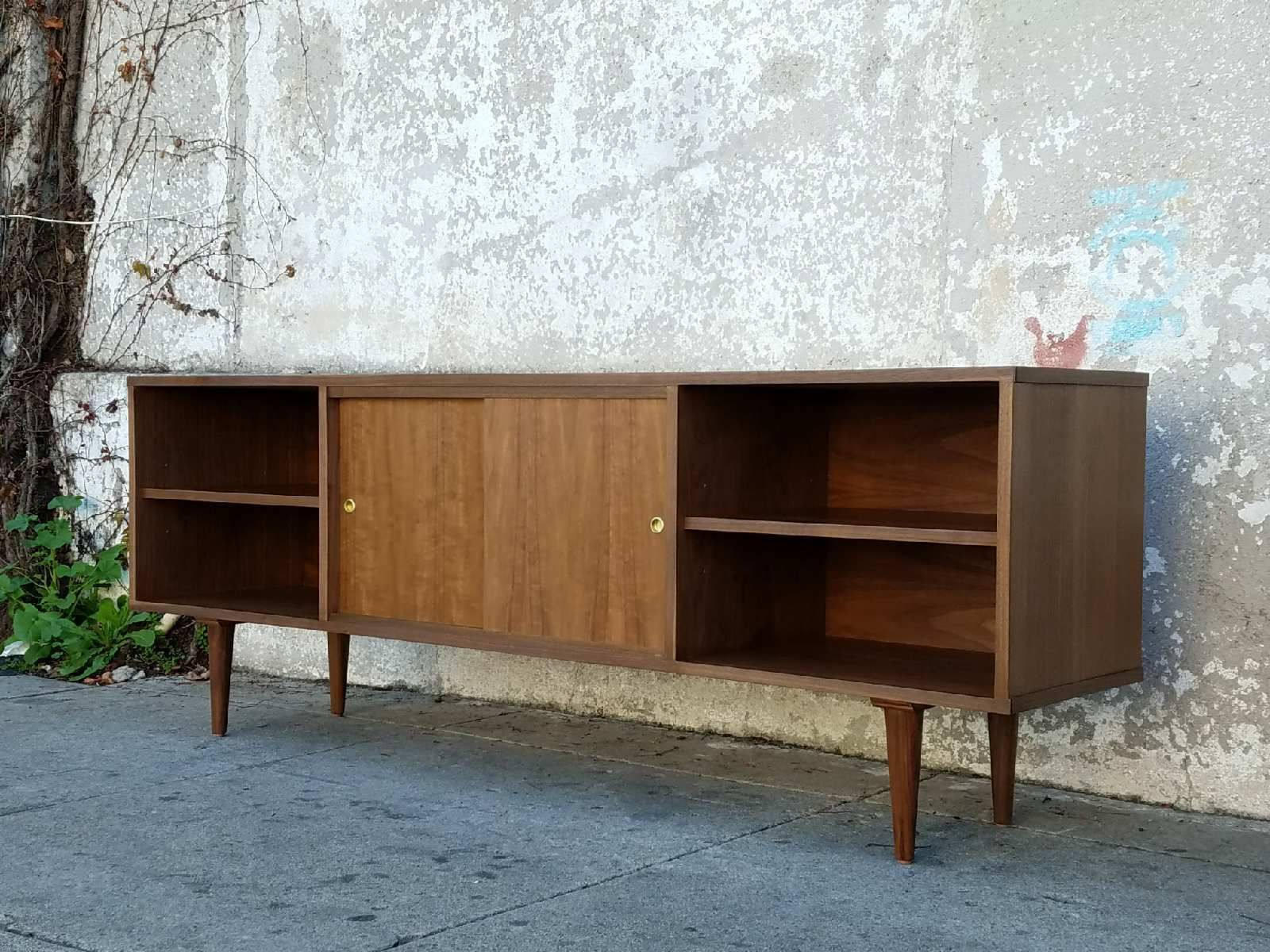 The Highland Park Walnut Credenza Sideboard – 72 L X 16 W Intended For Park Credenzas (View 7 of 15)