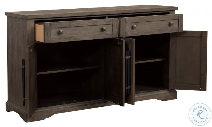 """Toulon Brown Server From Homelegance   Coleman Furniture With Barkell 42"""" Wide 2 Drawer Acacia Wood Drawer Servers (View 11 of 15)"""