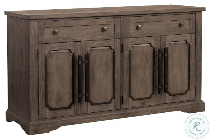 """Toulon Brown Server From Homelegance   Coleman Furniture With Regard To Barkell 42"""" Wide 2 Drawer Acacia Wood Drawer Servers (View 12 of 15)"""