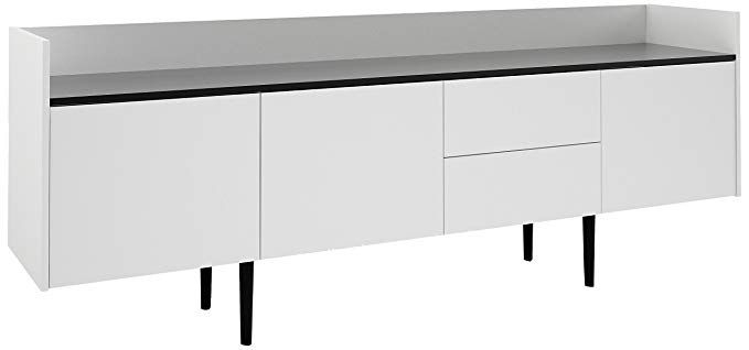 """Tvilum 7004849dj Unit 2 Drawer And 3 Door Sideboard, White With Nahant 36"""" Wide 4 Drawer Sideboards (View 14 of 15)"""
