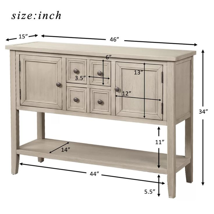 """Voight 46"""" Wide 4 Drawer Acacia Wood Server In 2020 