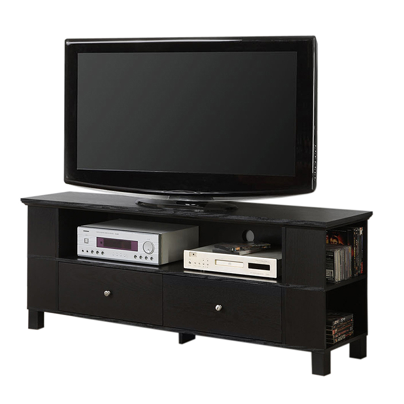 """Walker Edison 65 Inch Tv Stand With Multimedia Storage Within Adalberto Tv Stands For Tvs Up To 65"""" (View 9 of 15)"""