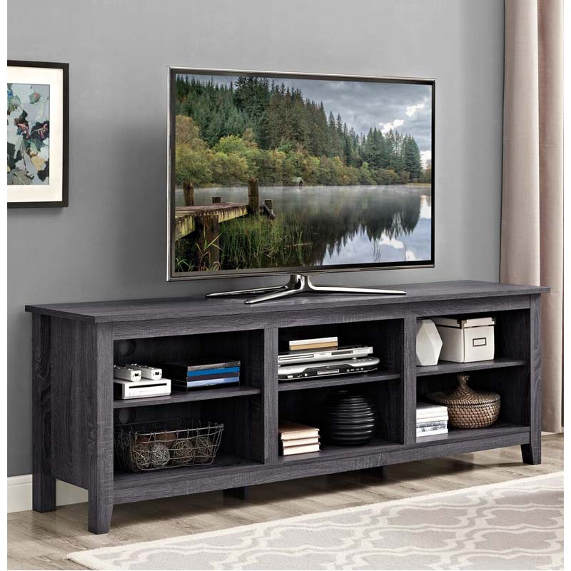 """Walker Edison Essentials 70 Inch Tv Stand (charcoal) W70cspcl Regarding Lederman Tv Stands For Tvs Up To 70"""" (View 5 of 15)"""