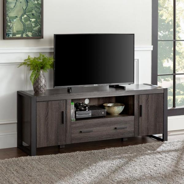 """Walker Edison Furniture Company Urban Blend 60 In Pertaining To Adalberto Tv Stands For Tvs Up To 65"""" (View 6 of 15)"""