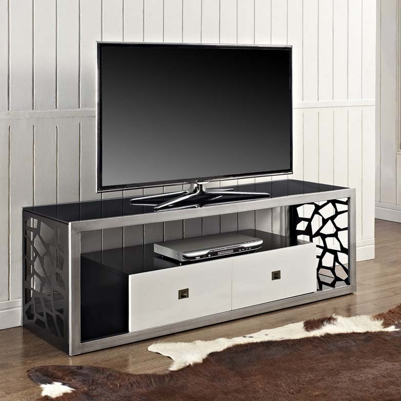 """Walker Edison Modern Mosaic 65 Inch Tv Stand (silver And Throughout Adalberto Tv Stands For Tvs Up To 65"""" (View 11 of 15)"""