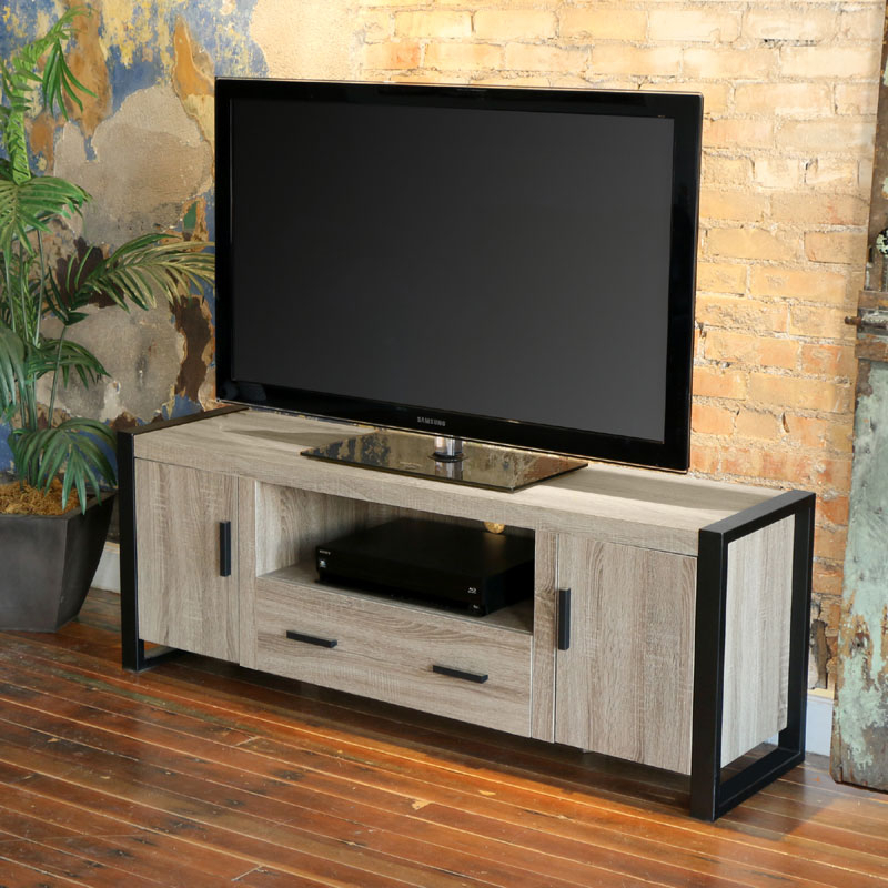 """Walker Edison Urban Blend 65 Inch Tv Console Ash Gray And In Adalberto Tv Stands For Tvs Up To 65"""" (View 7 of 15)"""